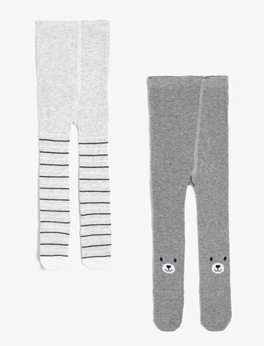 Koton Kids Külotlu Çorap Gri